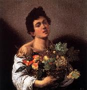 Caravaggio, Boy with a Basket of Fruit f