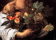 Caravaggio, Boy with a Basket of Fruit (detail) fg