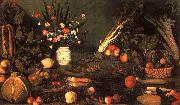 Caravaggio Still Life with Flowers Fruit Sweden oil painting reproduction
