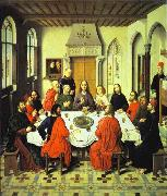 Dieric Bouts, Last Supper central section of an alterpiece