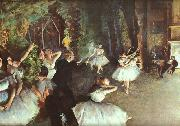 Edgar Degas Rehearsal on the Stage Sweden oil painting reproduction