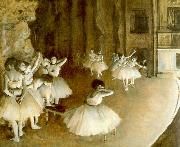 Edgar Degas, Ballet Rehearsal on Stage