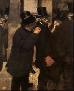 Edgar Degas, At the Stock Exchange