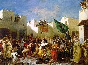 Eugene Delacroix The Fanatics of Tangier Sweden oil painting reproduction