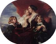 Franz Xaver Winterhalter, Elzbieta Branicka, Countess Krasinka and her Children