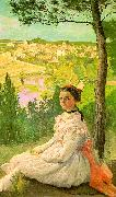 Frederic Bazille View of the Village Sweden oil painting reproduction