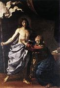 GUERCINO, The Resurrected Christ Appears to the Virgin hf