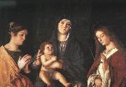 Giovanni Bellini The Virgin and the Child with Two Saints Sweden oil painting reproduction
