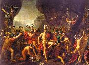 Jacques-Louis  David Leonidas at Thermopylae Sweden oil painting reproduction