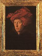 Jan Van Eyck A Man in a Turban   3 oil painting picture wholesale