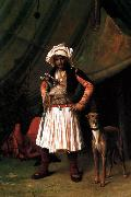 Jean Leon Gerome Bashi-Bazouk and his Dog oil painting picture wholesale