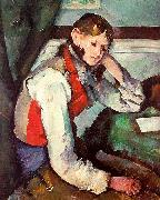 Paul Cezanne Boy in a Red Waistcoat Sweden oil painting reproduction