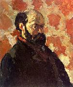 Paul Cezanne Self Portrait on a Rose Background Sweden oil painting reproduction