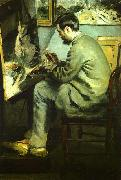 Pierre Renoir, Bazille at his Easel