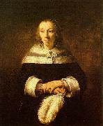 Rembrandt Portrait of a Lady with an Ostrich Feather Fan oil painting picture wholesale