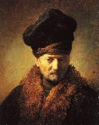 Rembrandt, Bust of an Old Man in a Fur Cap