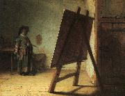 Rembrandt, Artist in his Studio
