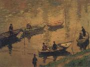 Claude Monet, Anglers on the Seine at Poissy