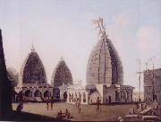 unknow artist, A Group of Temples at Deogarh,Santal Parganas Bihar