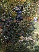 Claude Monet, Camille and Jean Monet in the Garden at Argenteuil