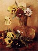 Hirst, Claude Raguet Pansies in a Glass Vase