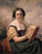 Huntington Daniel A Portrait of Mlle Rosina, A Jewess