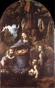 LEONARDO da Vinci, Madonna in the rock grottos