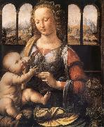 LEONARDO da Vinci, Madonna with the carnation