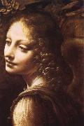 LEONARDO da Vinci, Madonna in the rock grottos(Details