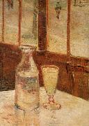 Vincent Van Gogh, An absinthe glass and water decanter