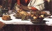 Caravaggio, Detail of The Supper at Emmaus
