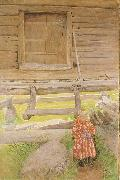 Carl Larsson, A Rattvik Girl  by Wooden Storehous