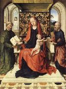 Dieric Bouts, The Virgin and Child Enthroned with Saints Peter and Paul