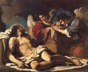 GUERCINO, The Dead Christ Mourned by two Angels