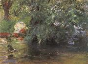 John Singer Sargent, A Backwater Calcot Mill Near Reading