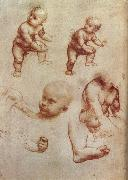 LEONARDO da Vinci, Drawing of an Infant