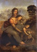 LEONARDO da Vinci, Maria with Child and St. Anna