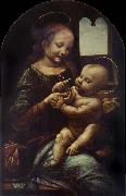 LEONARDO da Vinci, Madonna with a Flower