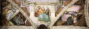 Michelangelo Buonarroti, Frescoes above the entrance wall
