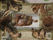 Michelangelo Buonarroti, God separates the waters and the country and blesses its work,