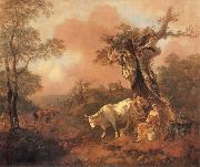 Thomas Gainsborough Landscape with a Woodcutter cowrting a Milkmaid