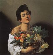 Caravaggio, Jungling with fruits basket