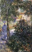 Claude Monet, Blue Shadows Camille in the Garden at Argenteuil