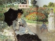 Claude Monet, Camille in the Garden with Jean and his Nanny