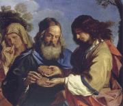 GUERCINO, Samson brings the parents the Honiguabe