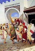unknow artist, Arab or Arabic people and life. Orientalism oil paintings  533