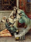 unknow artist, Arab or Arabic people and life. Orientalism oil paintings 617