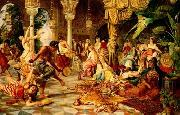unknow artist, Arab or Arabic people and life. Orientalism oil paintings  509
