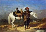 unknow artist, Arab or Arabic people and life. Orientalism oil paintings 585