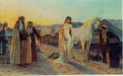 unknow artist, Arab or Arabic people and life. Orientalism oil paintings 101